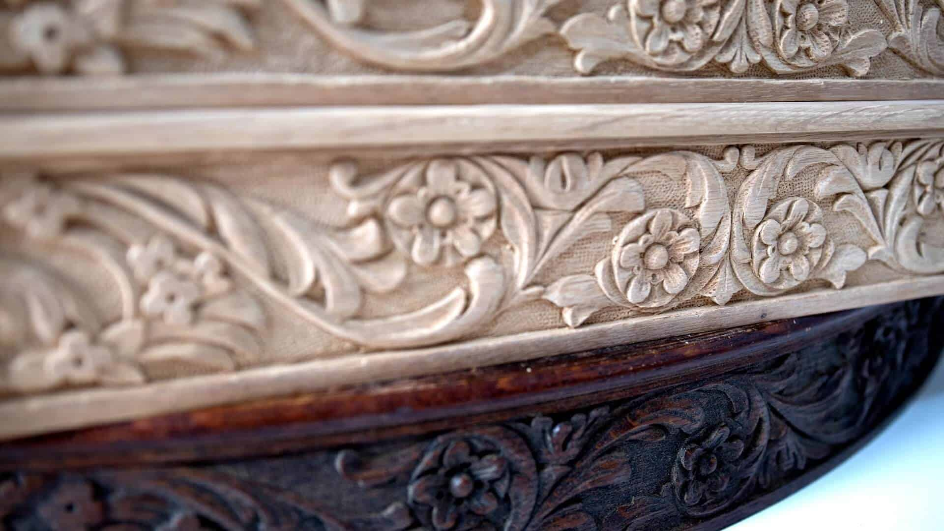 Woodcarving School | Carving Dining Table Apron | Furniture Carving | Decorative Wood Carving | https://schoolofwoodcarving.com