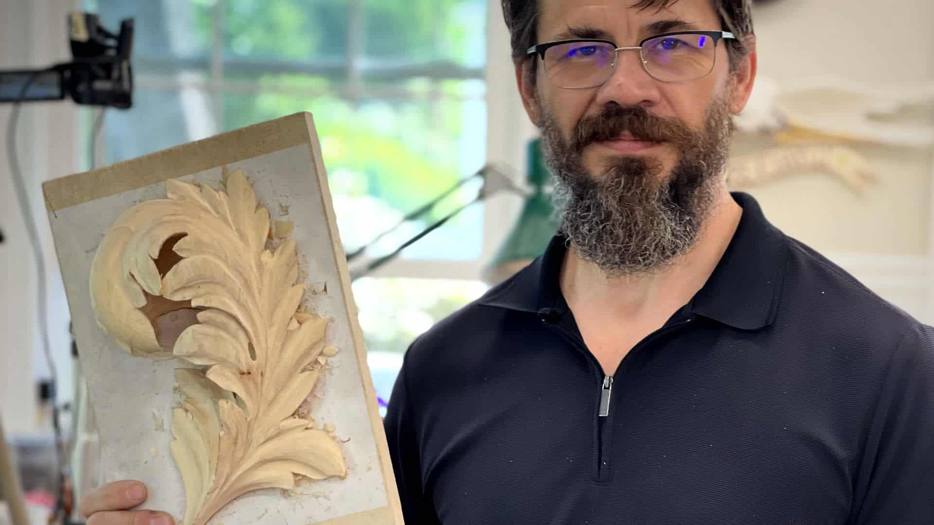How to carve byzantine acanthus leaf